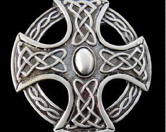 Irish Celtic Knot Weave Metal Cross Belt Buckle Buckles