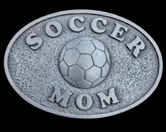 Soccer Mom Belt Buckle Sports Mom's Birthday Gifts Belts & Buckles