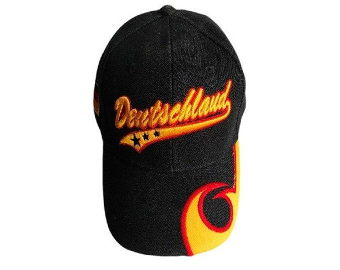 Deutschland Germany German Country Flag Sports Fan Baseball Soccer Team Cap Hat