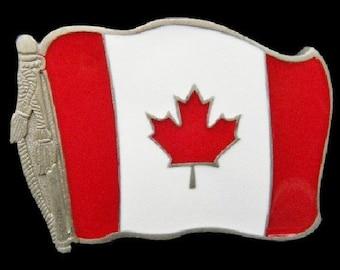 Canada Maple Leaf Flag Beer Bottle Opener Belt Buckle