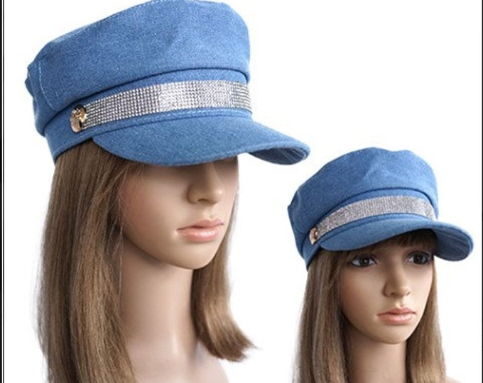 Bling Beret Hat Military Women Cap Trucker Sports Hats Caps