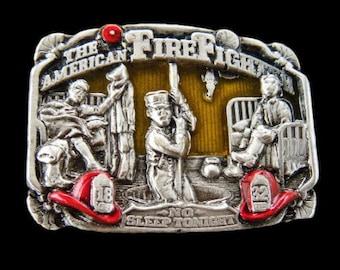 The American Fire Fighter FD Fire Dept. Fireman Fire Fighter Belt Buckle