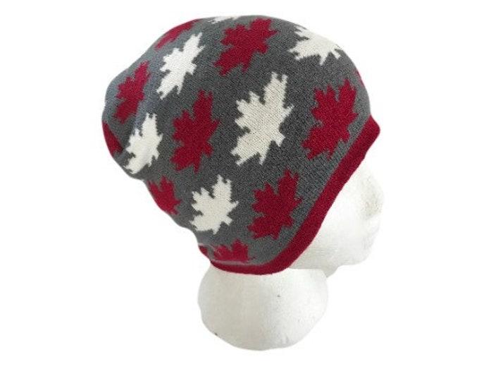 Canada Canadian Flag Mapleleafs Gray Unisex Ski Hat Beanie Hats