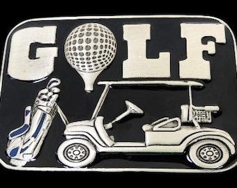 Golf Golfer Golfing Golfcart Golfcourse Tee Sports Belt Buckle Buckles