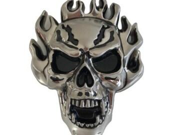 Big Skull Secret Hidden Stash Box Compartment Cool Belt Buckle