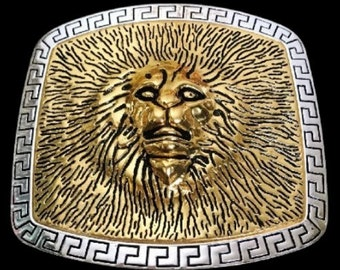 Lion Head Roman Fountain King Of The Jungle Africa Lions Belt Buckle Buckles