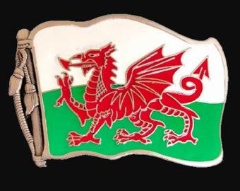 Flag of Wales Y Ddraig Goch The Red Dragon Belt Buckle Belts Buckles