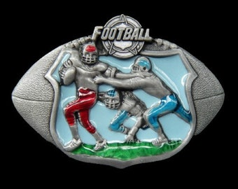 Football Players Teams Sports Belt Buckle Boucle de Ceinture