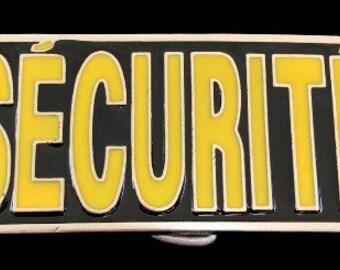 Security Securite French Police Patrol Guard Belt Buckle Buckles Boucle De Ceinture