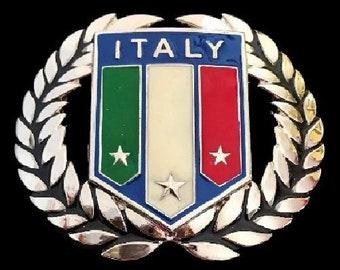 ITALY italiaN FLAG italia rome roman stars belt buckles