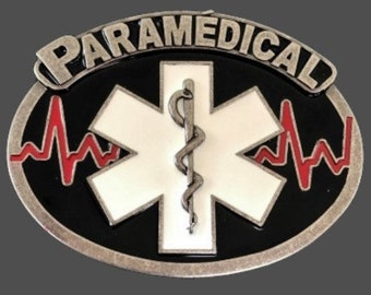 Paramedical French Paramedics EMT Doctors Ambulance Technicians Belt Buckle Buckles