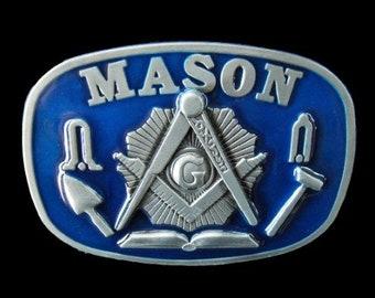 Mason Masons Masonic Worker Compass Tools Belt Buckle Belts Buckles