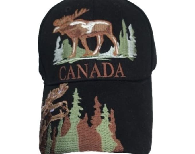 Canada Canadian Moose Embroidered Baseball Cap Hat