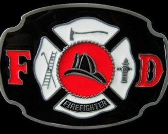 Fd Fire Dept Fireman Firemen Firefighters Crest Belt Buckle Belts Buckles Boucle Pompier