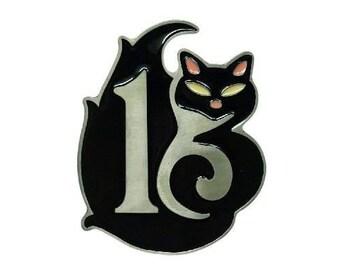 Lucky 13 Pink Ears Cat Kitty Belt Buckle Belts Buckles