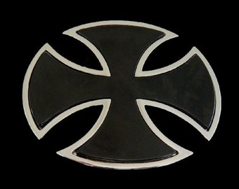 Black Celtic Cross Irish Metal Cool Belt Buckle