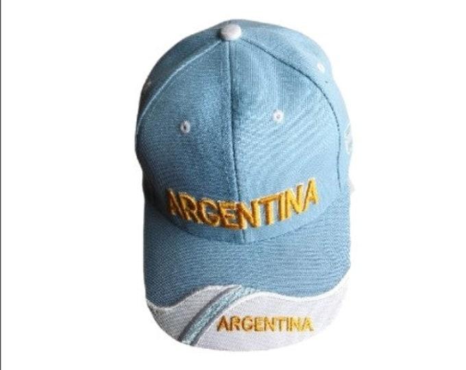 Argentina Argentinian Flag Tapa Gorra Sombrero Soccer Hat Baseball Casquette