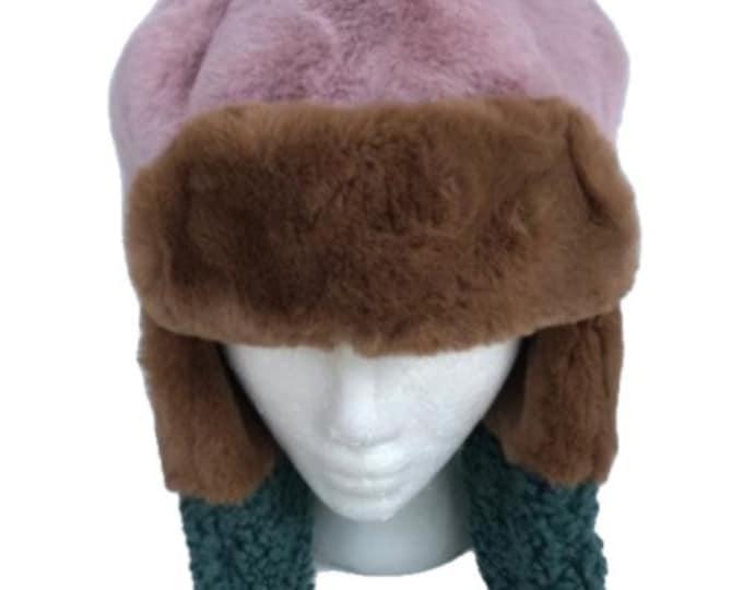 Women's Winter Trapper Hat Bomber Aviator Russian Trooper Fur Ear flap Ski Hats