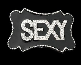 Sexy Rhinestone Black Belt Buckle Buckles Boucle De Ceintures