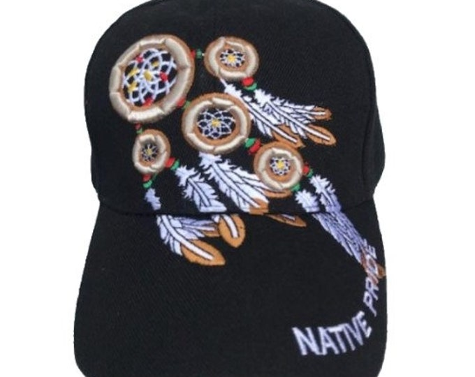 Native Pride American Dreamcatcher Indian Embroidered Cap Hat