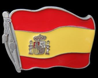 Spain Spanish Madrid Cool Barcelona Flags Belt Buckles