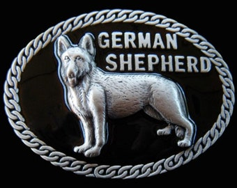 German Shepherd Pet Dog Animal Chain Belt Buckle Buckles