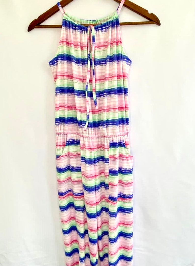 Matching mother daughter outfits Mothers day from Daughter Mommy and me jumpsuit colorful striped romper,Mommy and me outfit,boho romper.