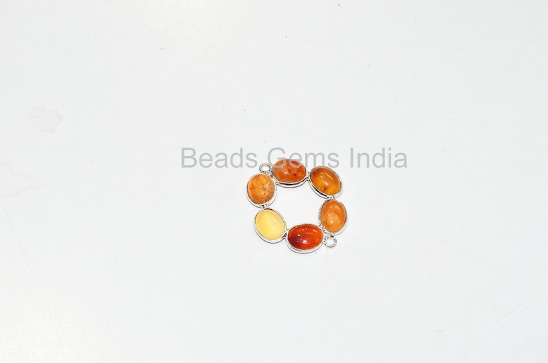 Sold By Piece Carnelian Cabochons Smooth Charm Spacer Double Bail Bezel Connector Pendant 6BGI053 3 cm