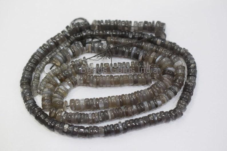 Black Moonstone Beads 5-6 mm 17/'/' Natural Black Moonstone Smooth Beads MC-1BGI54 Black Moonstone Tyre Shape Beads