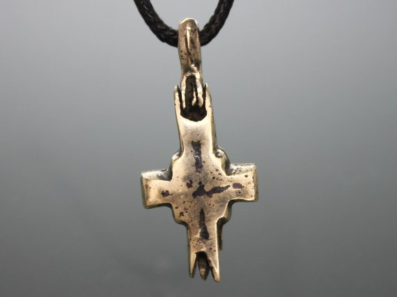 Ancient Medieval Cross Reliquary Pendant / Crusade