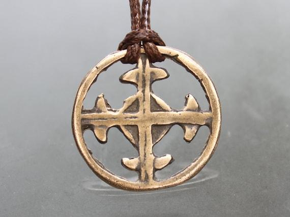 Ancient Medieval Crusaders cross pendant. Crusader