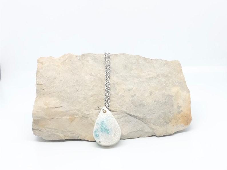 Necklace Teardrop Halloween-Handmade Necklace-Accessories-Resin Jewelry-Resin Necklaces-Handmade Jewelry-Halloween Necklace White