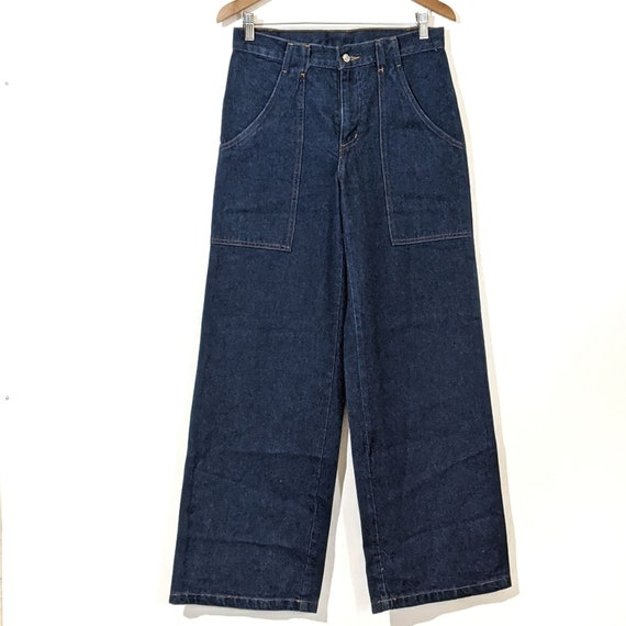 Vtg Roxy High Waisted Wide Leg Sailor Jeans