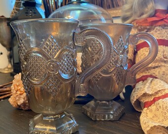 Antique Tea Coffee Glassware