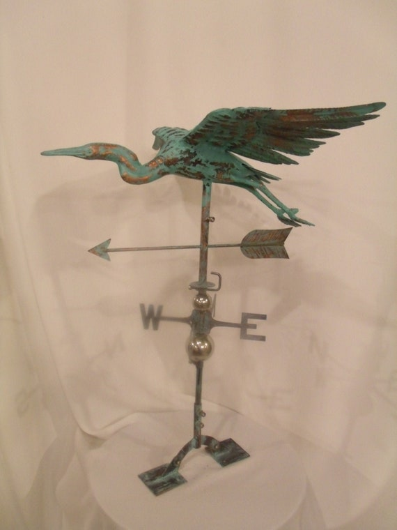 Dimensional Peacock Weathervane Copper Patina Finish LARGE Handcrafted 3D 3