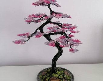 Bonsai wire tree sculpture. Tree ornament.