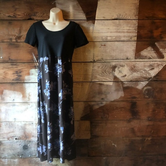 Vintage 80s 90s Studio Ease Size 6P Black Dress