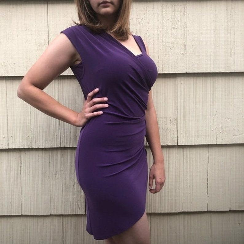 Vintage Size 10 Joseph Ribkoff Purple Mini-Dress