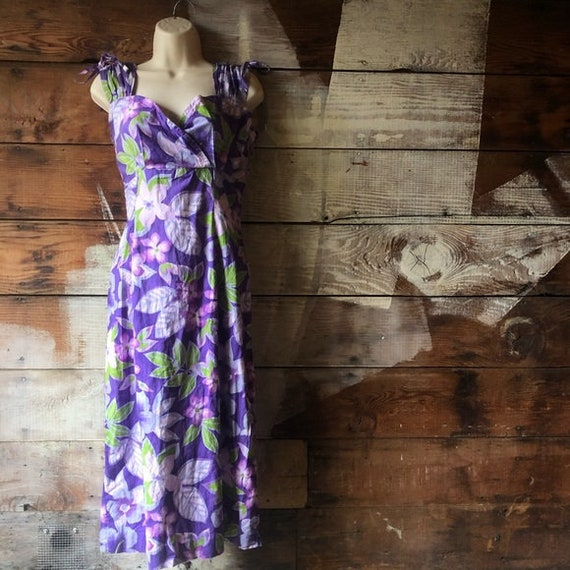 Vintage Sweetheart Purple Pinup Handmade Dress