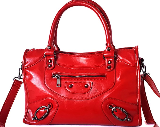 Featured listing image: Purse for Women Satchel    Crossbody   Red