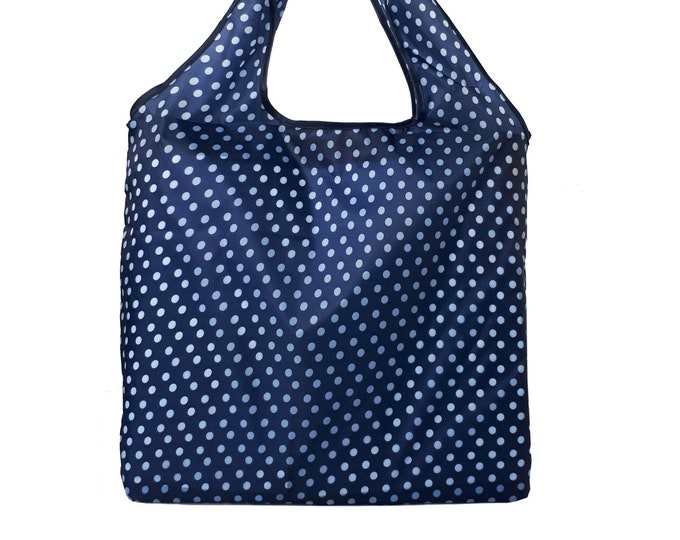 Featured listing image: Reusable Shopping Bag Foldable   Market Tote   Grocery bag   Zero-Waste   Eco Shopping  