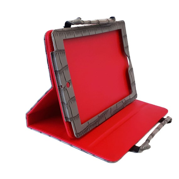 Ipad case Cover | E Reader case | LG Tablet cover | Samsung Tablet Case | Crocodile | Red | Grey
