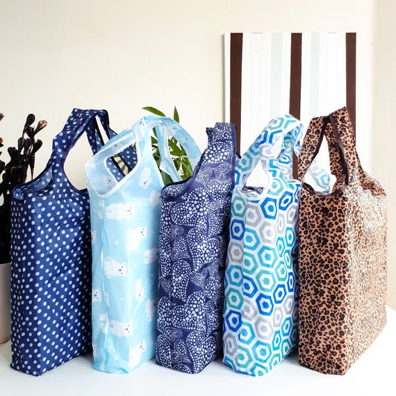 Reusable Shopping Bag Foldable | Market Tote | Grocery bag | Zero-Waste | Eco Shopping |