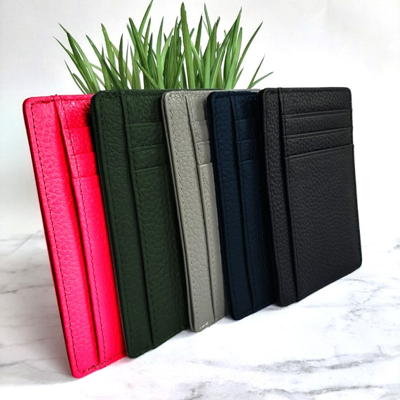 100% Leather Card Holders | Thin Slim Minimalist Wallet