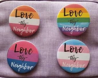 "Just Don/'t Get Caught!/"" Funny Joke Bumper Sticker /""Love thy Neighbor"