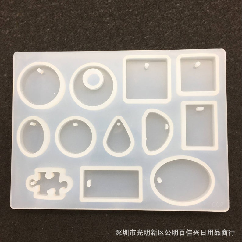for Necklace Pendant Making 1piece 12 Models DIY Handmade Jewelry Epoxy Resin Pendant Silicone Mold
