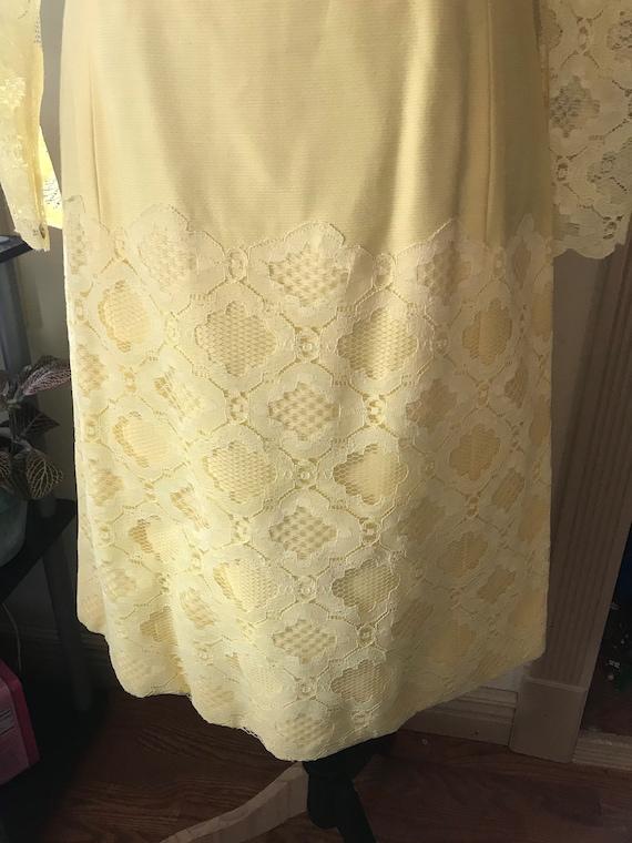 Sunny Yellow Vintage 60s Mod Dress - image 6