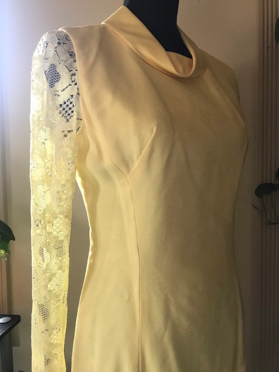 Sunny Yellow Vintage 60s Mod Dress - image 5