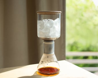 MICO-ICE Pro ice drip glass coffee maker   paperless cold brew   hassle-free   care-free-【Father's Day】