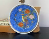 Japanese Bird of Paradise Decorative Plate Display Home Decor Possible Wall Hanging Japan Plate